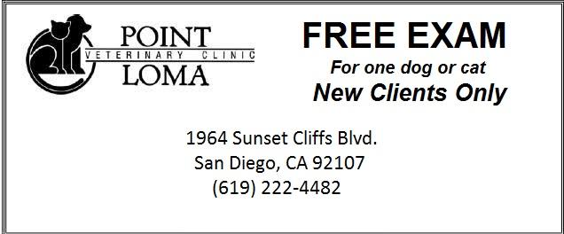 Point Loma Veterinary Clinic  Coupon San Diego CA